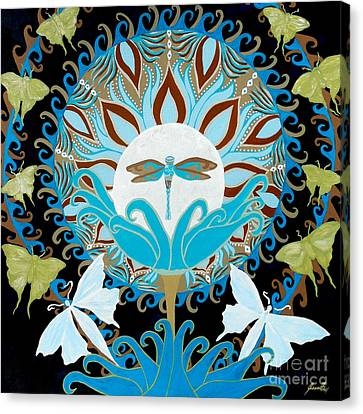 Light And Dark Canvas Print - The Luna Moth Journey Of Faith And Love by Jean Fry