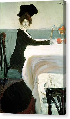 The Luncheon Canvas Print by Leon Bakst