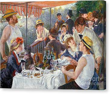 The Luncheon Of The Boating Party Canvas Print by Pierre Auguste Renoir
