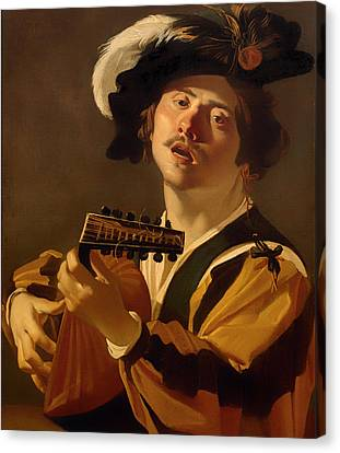 Lute Canvas Print - The Lute Player by Mountain Dreams