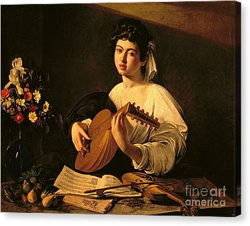 The Lute Player Canvas Print