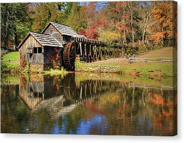 The Mabry Mill Canvas Print by Lori Deiter