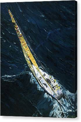 The Mac. Chicago To Mackinac Sailboat Race. Canvas Print by Gregory Allen Page