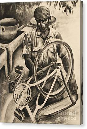 The Machanic Canvas Print by Curtis James