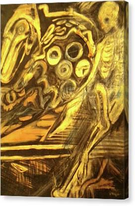 The Machine Canvas Print by Victoria Hasenauer