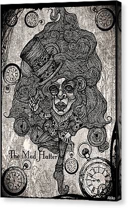 The Mad Hatter Canvas Print by Akiko Okabe