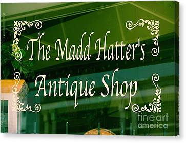 The Mad Hatter Antique Shop  Canvas Print by JW Hanley