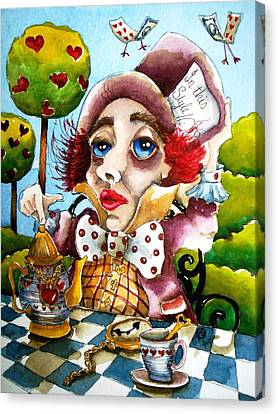 The Mad Hatter Canvas Print by Lucia Stewart