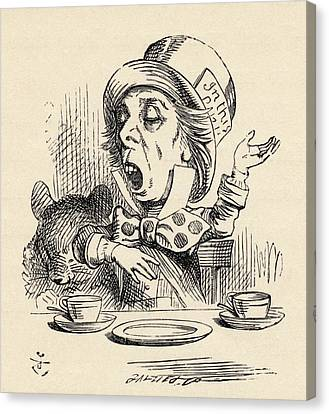 The Mad Hatter Reciting His Nonsense Canvas Print