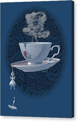 The Mad Teacup - Royal Canvas Print by Swann Smith
