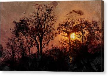 The Madness Of Twilight Canvas Print by Mark Denham