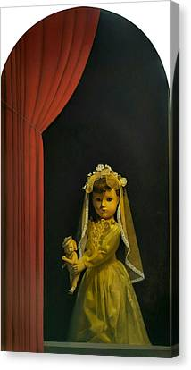 Fantasy Realistic Still Life Canvas Print - The Madonna And Child by Weiyu Xia