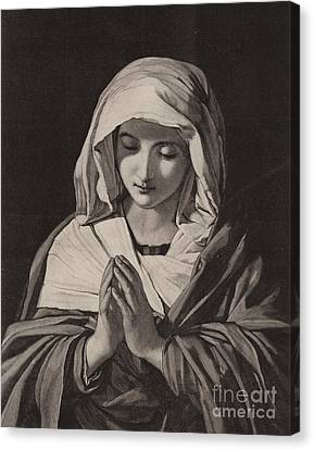 The Madonna In Prayer Canvas Print