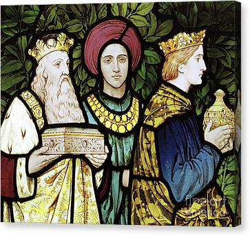 Gold Necklace Canvas Print - The Magi by Henry Holiday