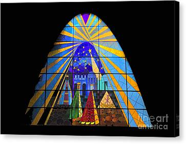 The Magi In Stained Glass - Giron Ecuador Canvas Print by Al Bourassa