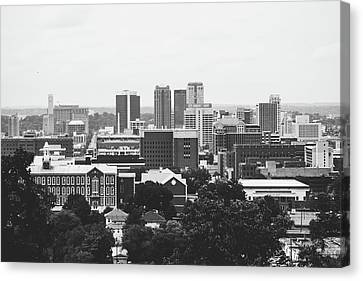 Canvas Print featuring the photograph The Magic City In Monochrome by Shelby Young