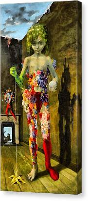 The Magic Flower Game Revisited - Da Canvas Print by Leonardo Digenio