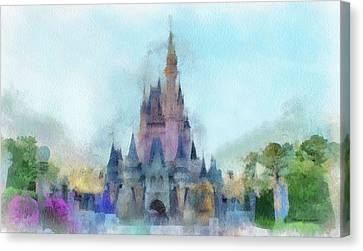 The Magic Kingdom Castle Wdw 05 Photo Art Canvas Print by Thomas Woolworth