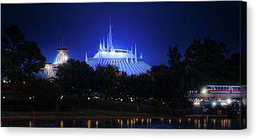 Canvas Print featuring the photograph The Magic Kingdom Entrance by Mark Andrew Thomas