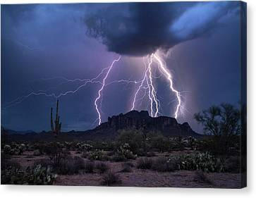 The Magic Of The Monsoon  Canvas Print