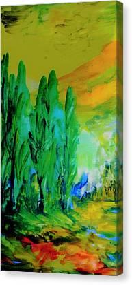 Inner World Canvas Print - The Magic Of Trees by Madina Kanunova
