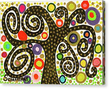 The Magical, Mystical Bubble Tree Canvas Print