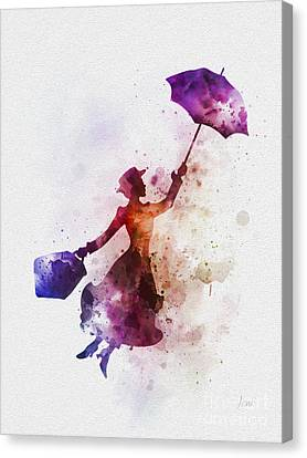 The Magical Nanny Canvas Print by Rebecca Jenkins