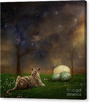 Surrealist Canvas Print - The Magical Of Life by Martine Roch