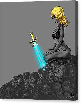 The Mystical Sword Canvas Print by Winston Wesley Art