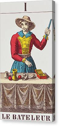 The Magician Tarot Card Canvas Print by French School