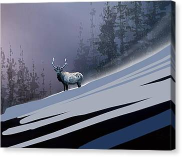 The Magnificent Elk Canvas Print by Paul Sachtleben