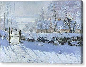 The Magpie Claude Monet 1869 Canvas Print by Movie Poster Prints