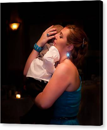 Maid Of Honor Canvas Print - The Maid Of Honor And Child by JP Brandano Photography