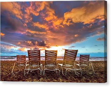 The Main Event Canvas Print by Debra and Dave Vanderlaan