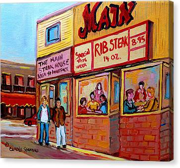 The Main Steakhouse On St. Lawrence Canvas Print by Carole Spandau