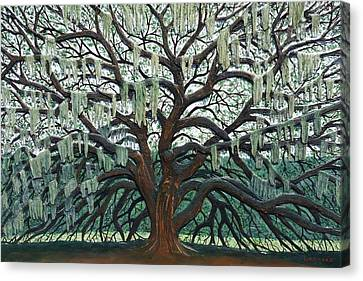 Woodcarving Canvas Print - Majestic Oak  by Nathan Ledyard