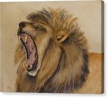 The Majestic Roar Canvas Print by Kelly Mills