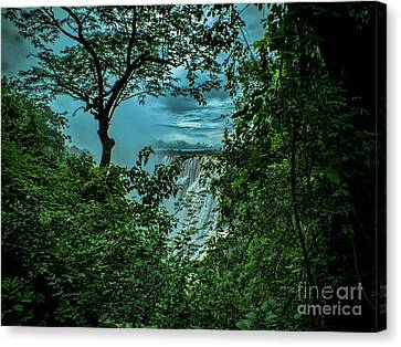 Canvas Print featuring the photograph The Majestic Victoria Falls by Karen Lewis