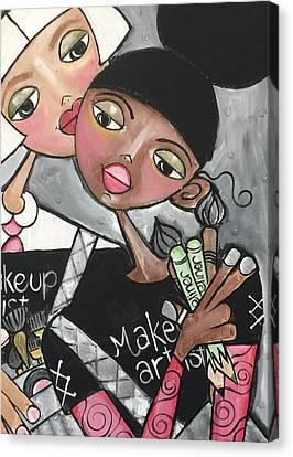 The Makeup Artist Canvas Print