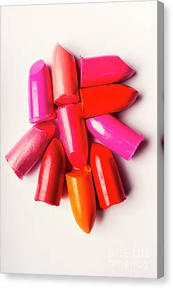 Pink Lipstick Canvas Print - The Makeup Breakup by Jorgo Photography - Wall Art Gallery