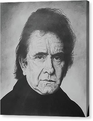 The Man In Black Canvas Print