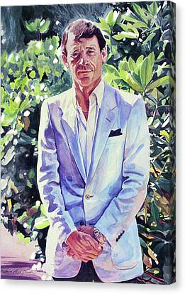 Canvas Print - The Man In Blue by David Lloyd Glover