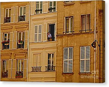 The Man In The Window Canvas Print by Louise Fahy