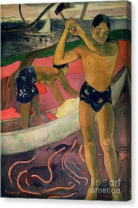 The Man With An Axe Canvas Print by Paul Gauguin