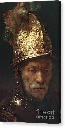 The Man With The Golden Helmet Canvas Print by Rembrandt