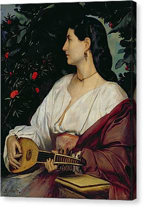 The Mandolin Player Canvas Print by Anselm Feuerbach