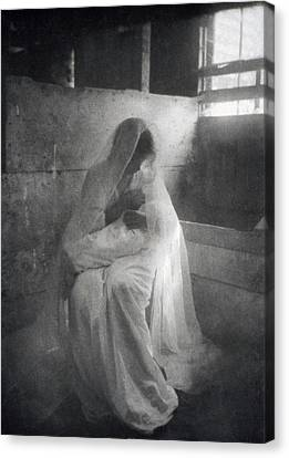 The Manger, By Gertrude Kasebier, Shows Canvas Print by Everett