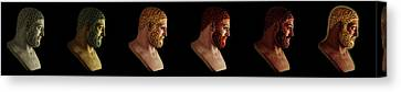 Canvas Print featuring the mixed media The Many Faces Of Hercules by Shawn Dall