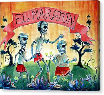 The Marathon Canvas Print by Heather Calderon