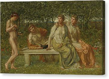 The Marble Seat Canvas Print by Albert Joseph Moore